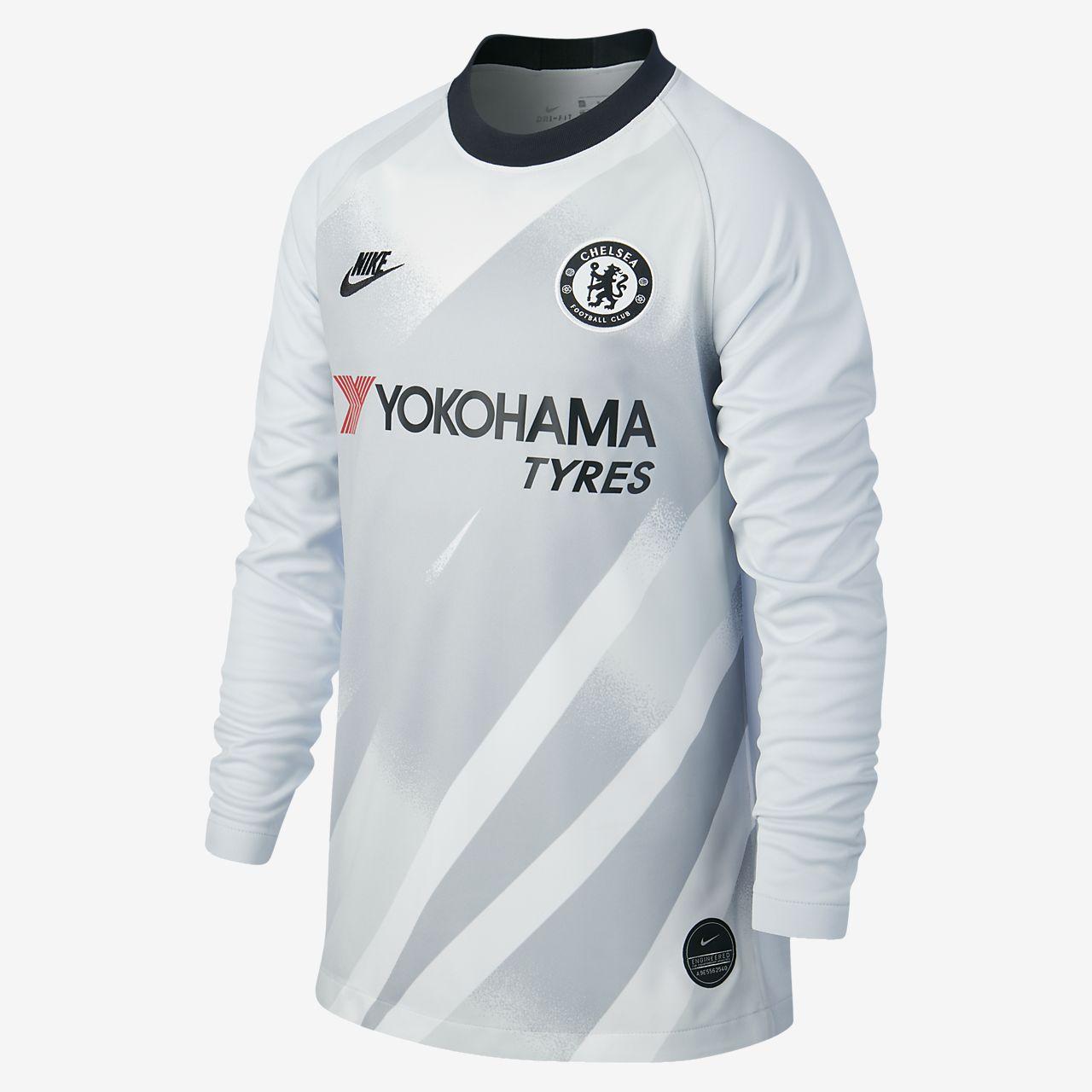 Chelsea FC 2019/20 Stadium Goalkeeper Older Kids' Football Shirt
