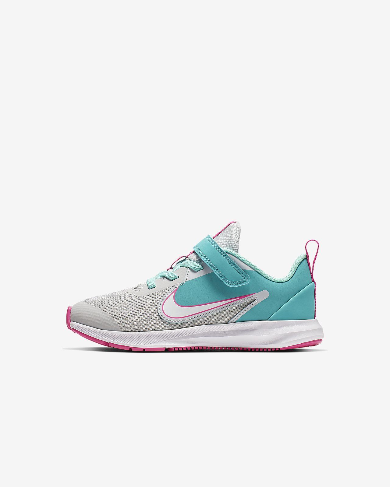 Nike Downshifter 9 Aqua Little Kids' Shoe