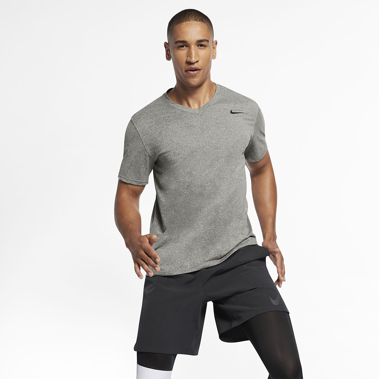 black and grey nike shirt