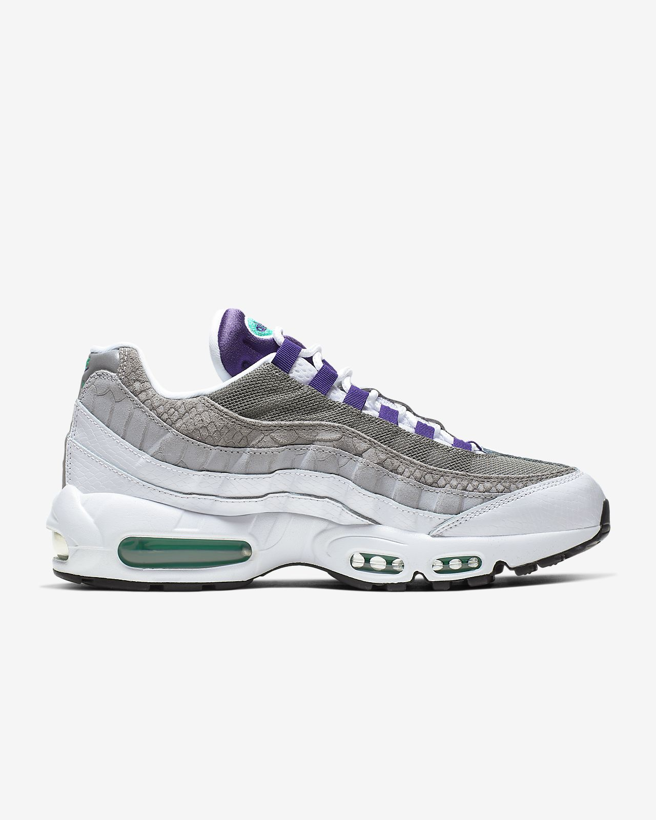 nike air max 95 white purple