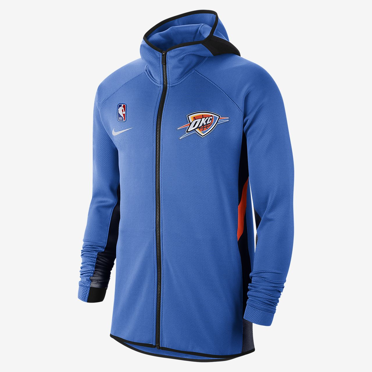 Sweat à capuche NBA Oklahoma City Thunder Nike Therma Flex Showtime pour Homme