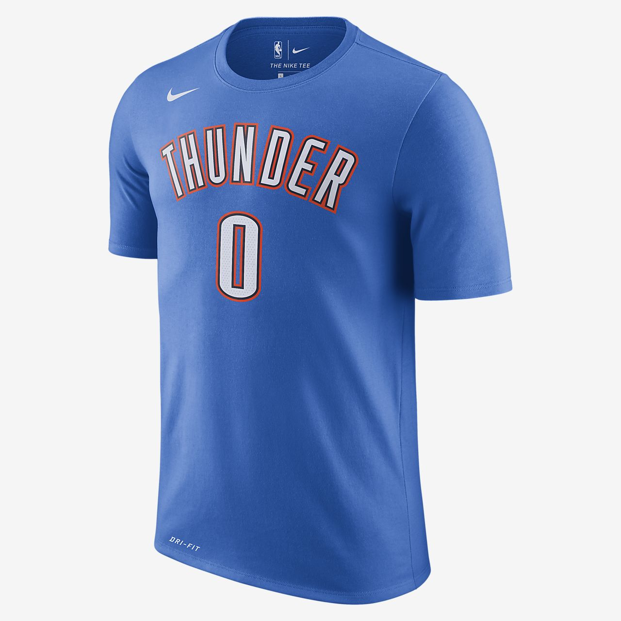 Tee shirt NBA Russell Westbrook Oklahoma City Thunder Nike Dri FIT pour Homme