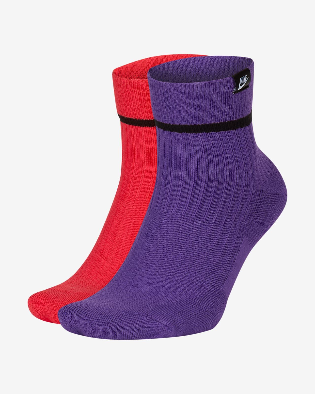Nike SNEAKR Sox Ankle Socks (2 Pairs)