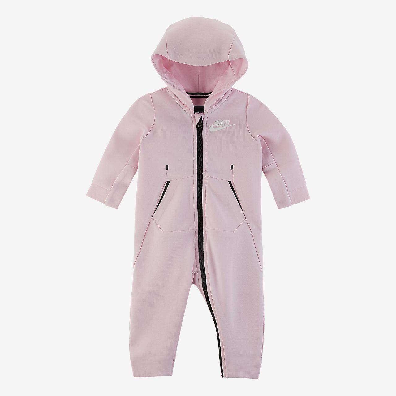 Coverall Nike Sportswear Tech Fleece med dragkedja i fullängd för baby (0-9 mån)