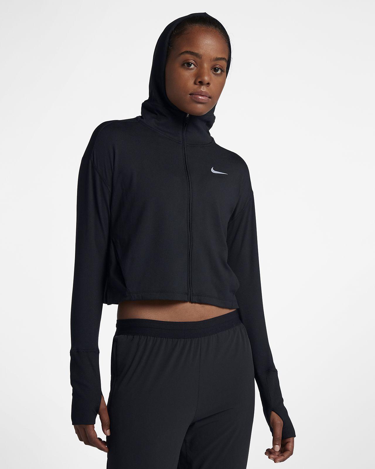Nike Dessuadora amb caputxa i cremallera completa de running - Dona