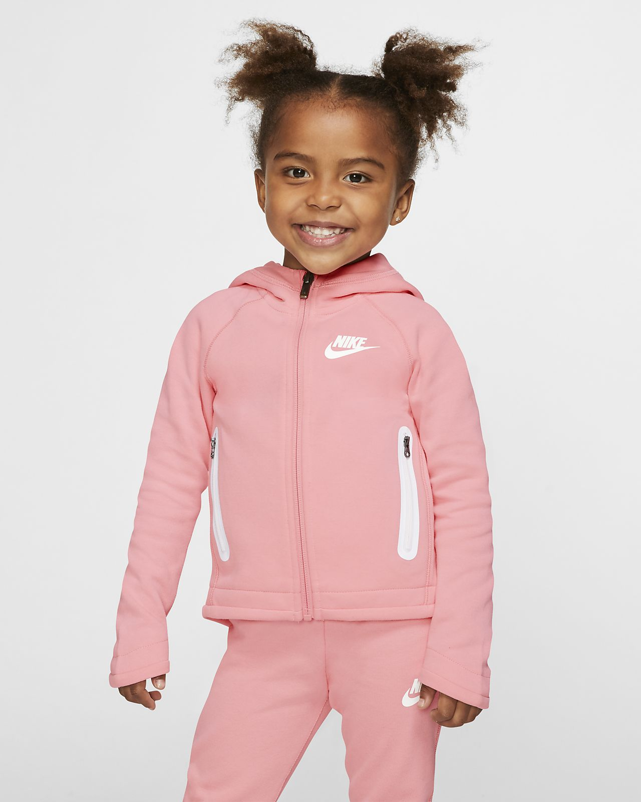 Nike Toddler Hoodie & Joggers 2 Piece Set (Bleached Coral