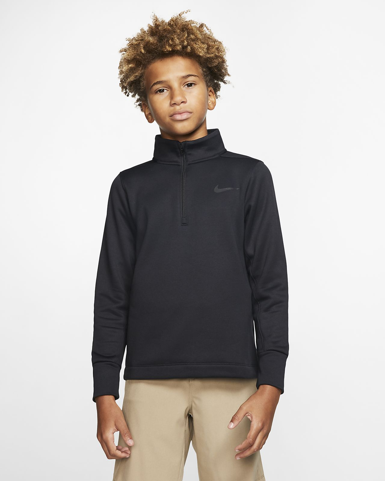 Nike Dri-FIT Therma Older Kids' (Boys') Half-Zip Golf Top