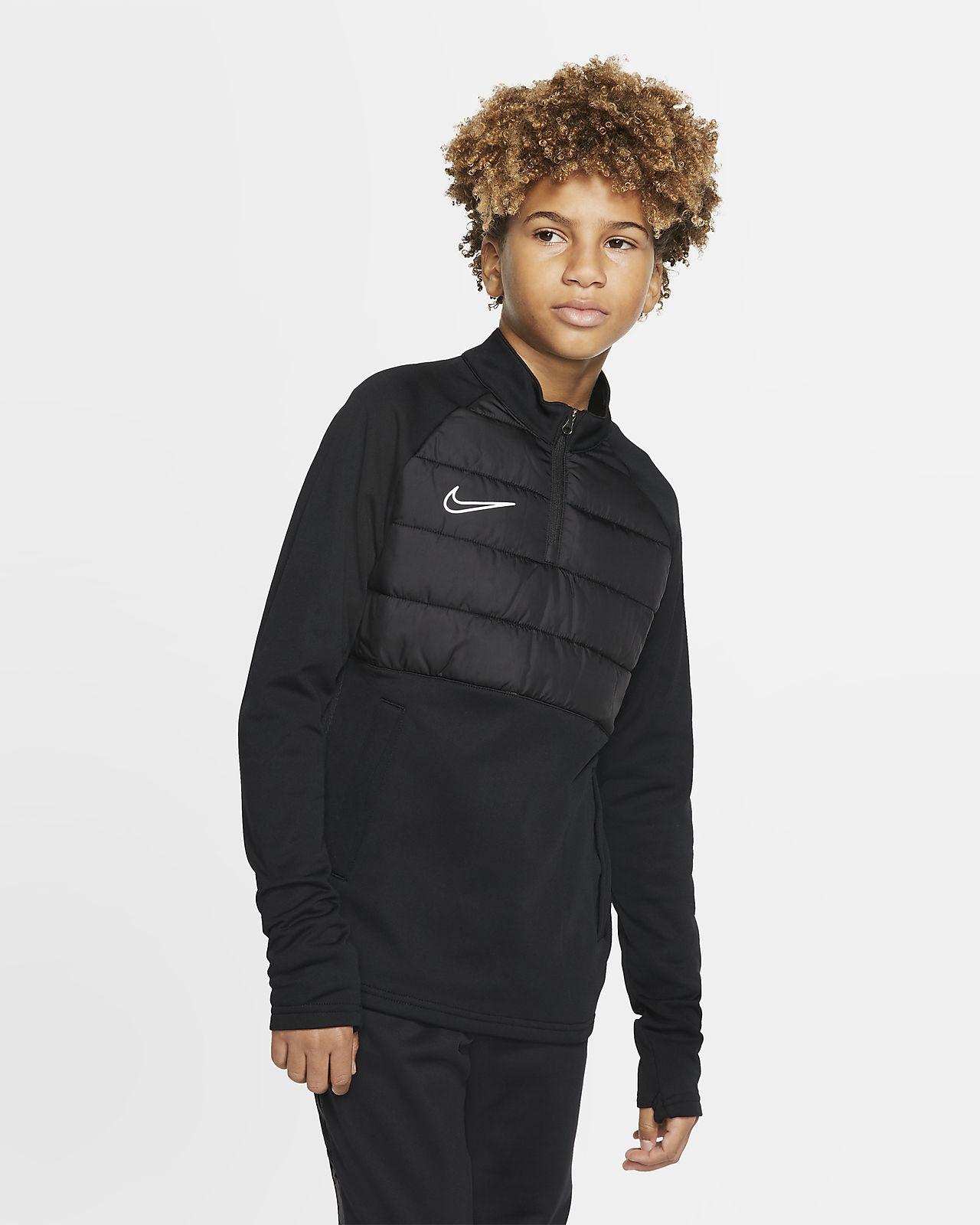 Camiseta de entrenamiento de fútbol para niños talla grande Nike Dri-FIT Academy Winter Warrior