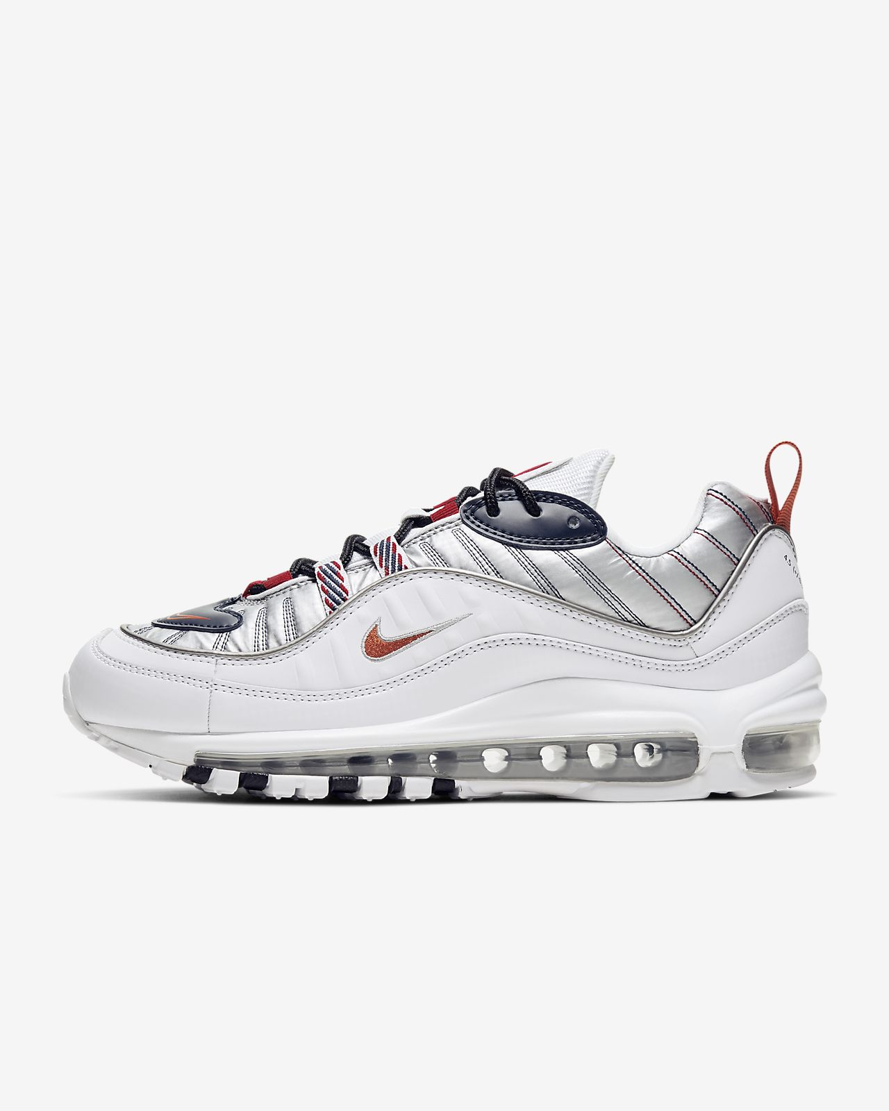 Nike Air Max 98 Leather, Suede And Mesh Sneakers | Socks