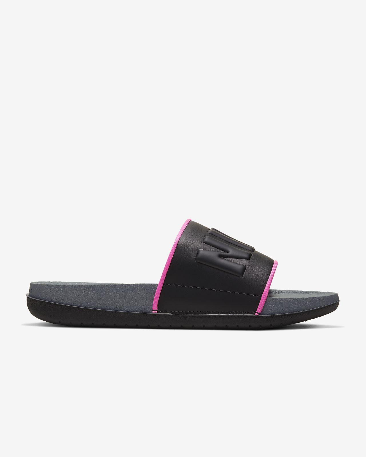 Women's Nike Benassi Duo Ultra Sandals Black Dark Grey