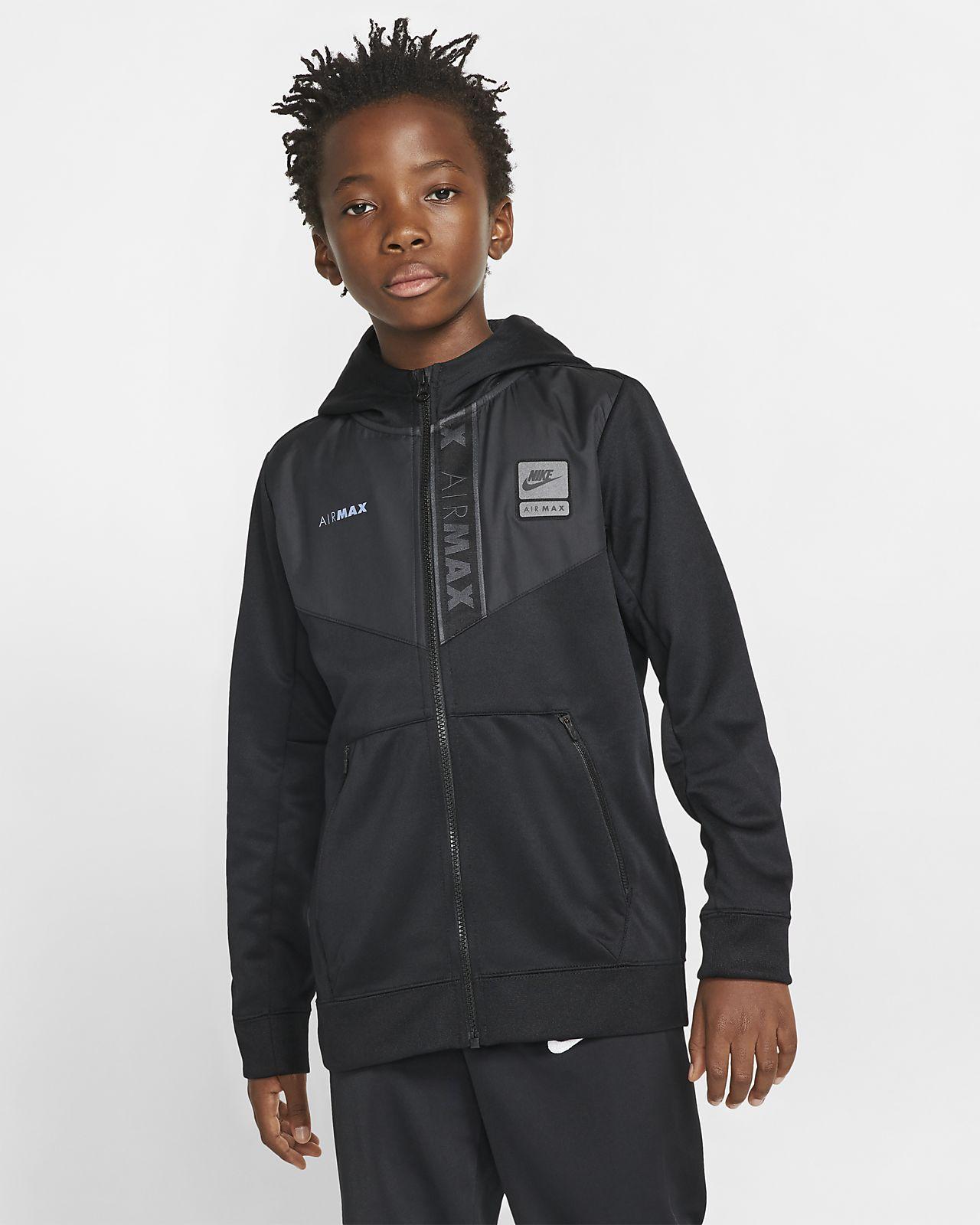 Nike Sportswear Air Max hettejakke med hel glidelås til store barn (gutt)