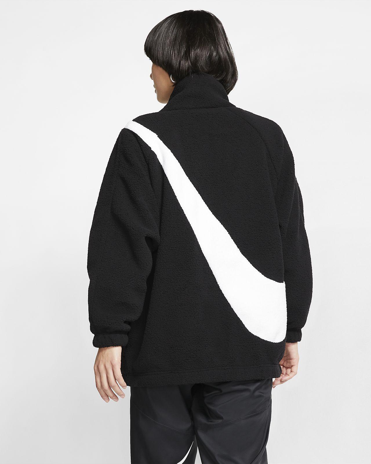 nike fleece swoosh jacket