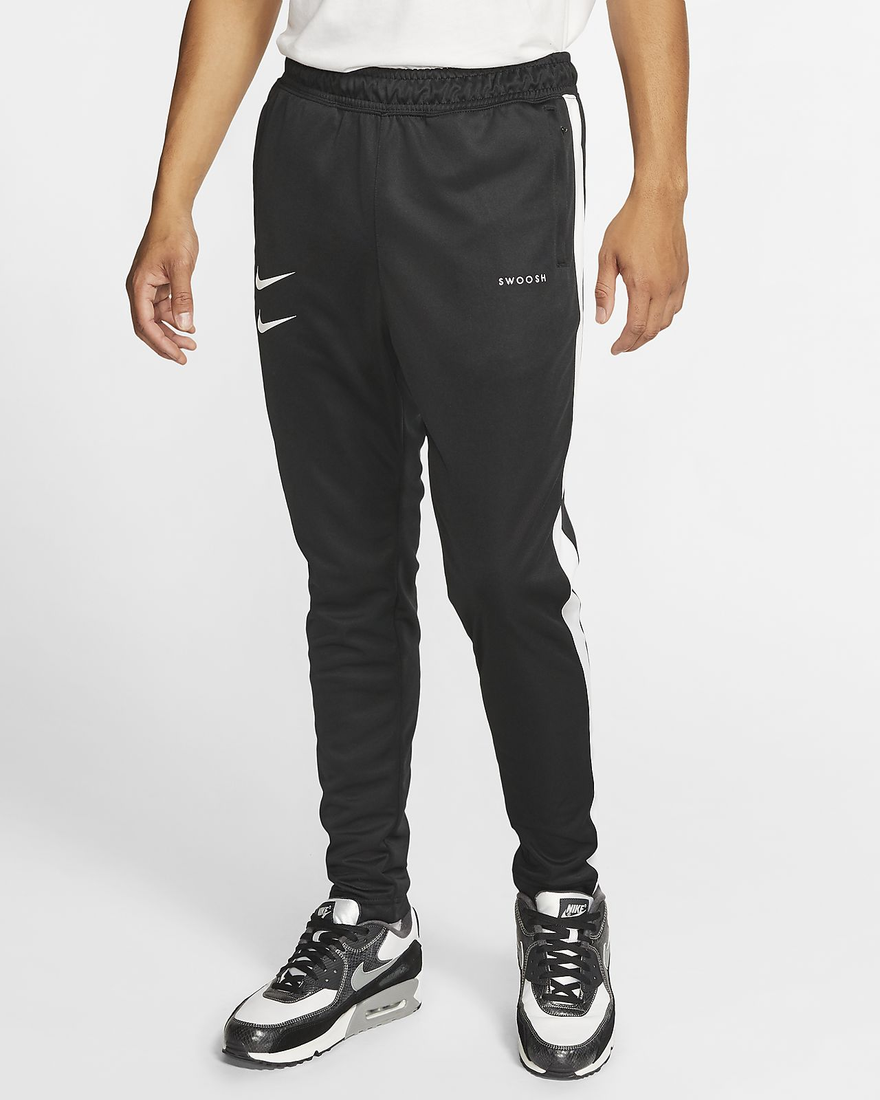 pantalon fitness homme swoosh+ gris nike
