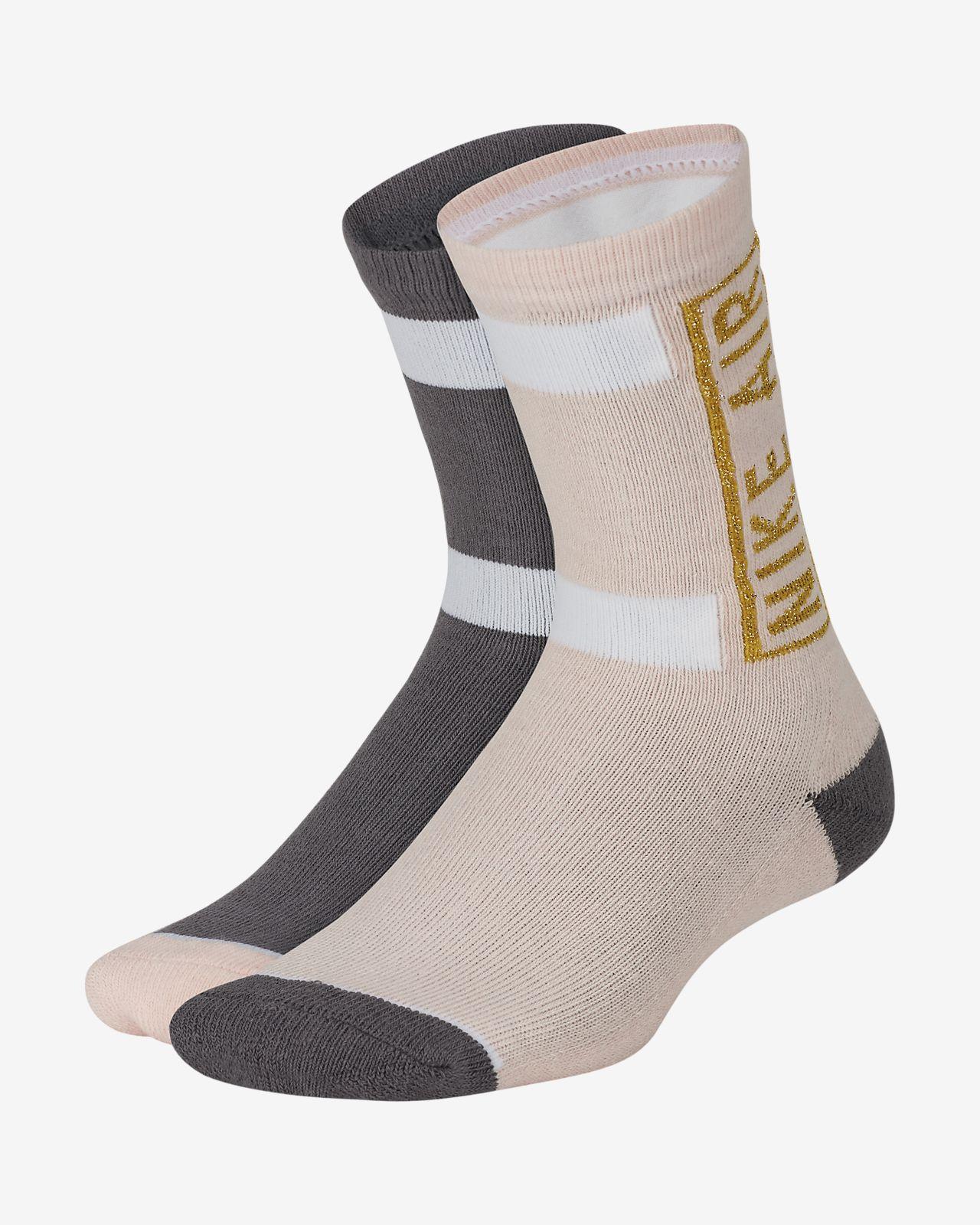 Nike Air Little Kids' Cushioned Crew Socks (2-Pack)