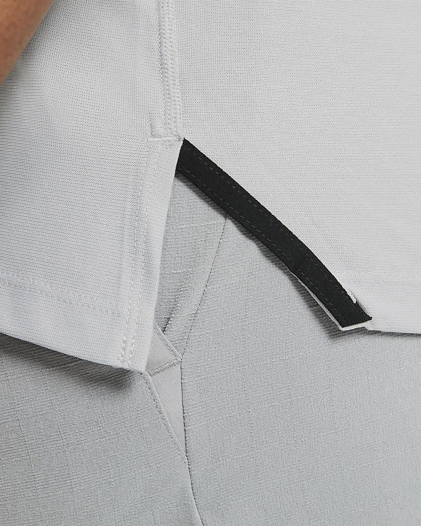 Nike Pro Men\'s Short-Sleeve Top Light Smoke Grey/Heather/Black