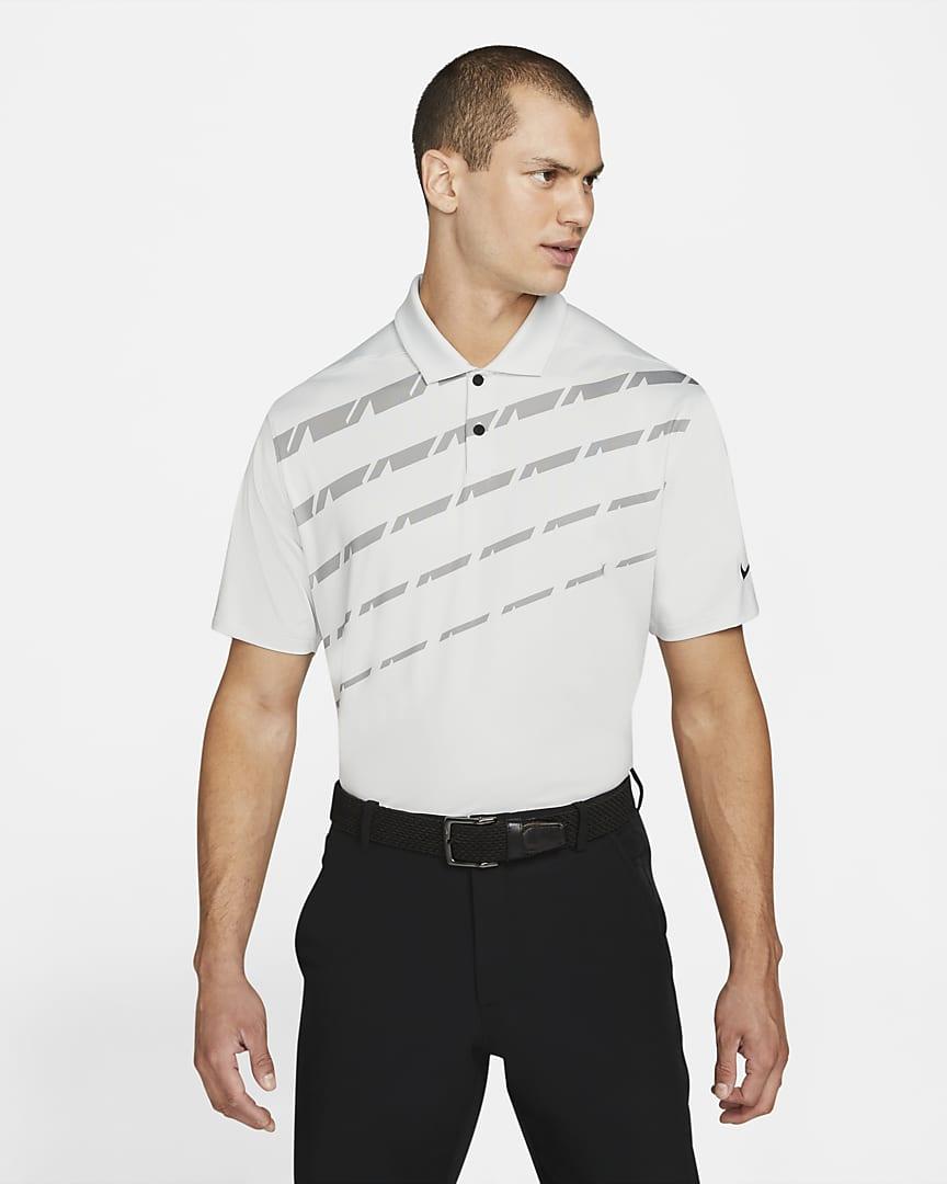 Nike Dri-FIT Vapor Men\'s Graphic Golf Polo Photon Dust/Dust/Black