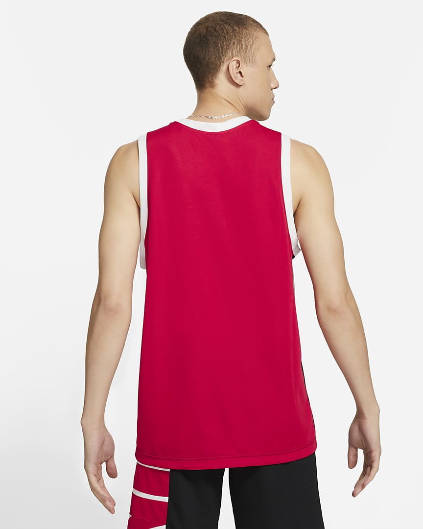 Nike Dri-FIT Men\'s Basketball Jersey Black/University Red/White/White