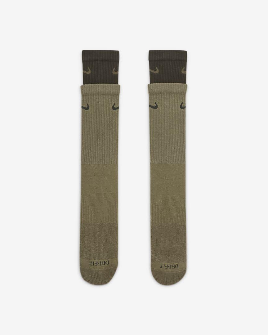 Nike Everyday Plus Cushioned Training Crew Socks Medium Olive/Sequoia/Sequoia