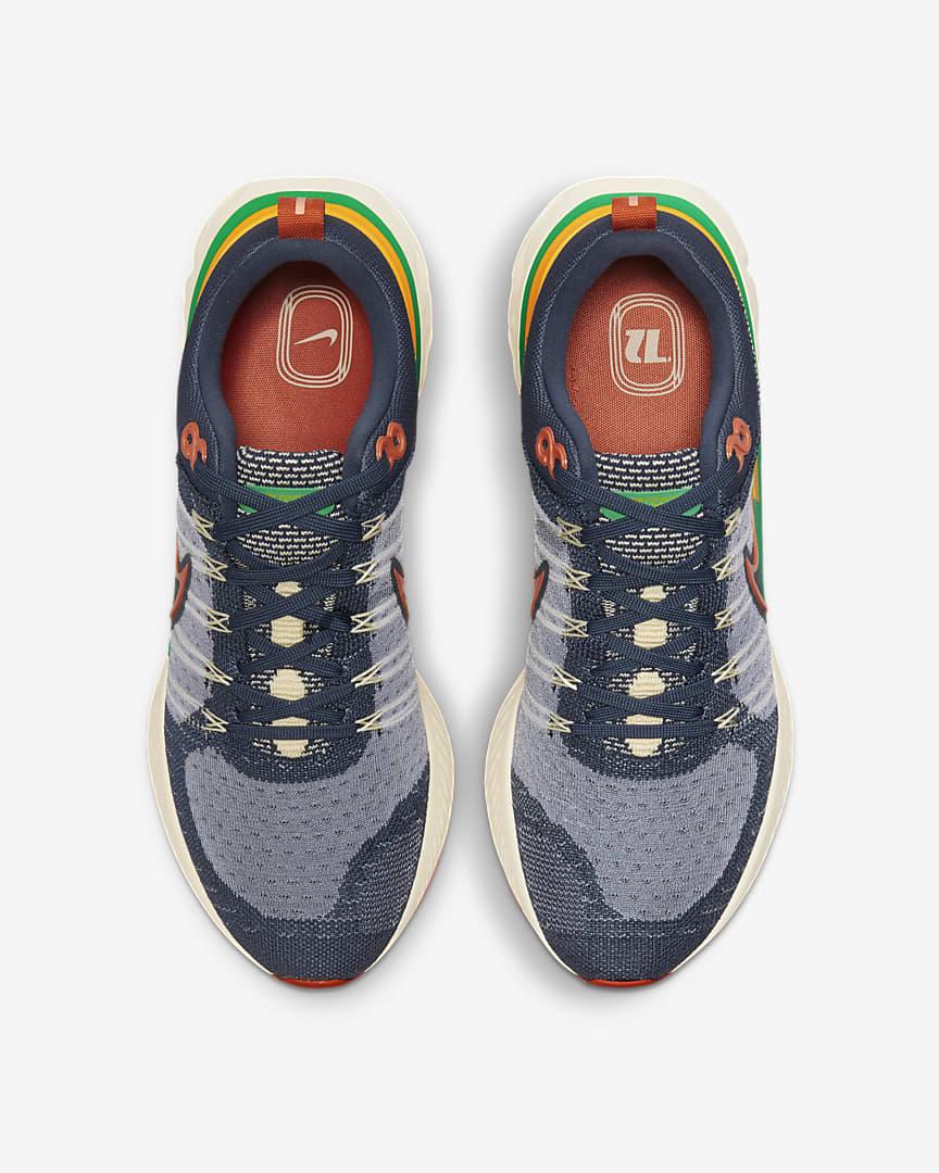 Nike React Infinity Run Flyknit 2 Men\'s Road Running Shoes Thunder Blue/Stadium Green/Dark Sulfur/Light Sienna