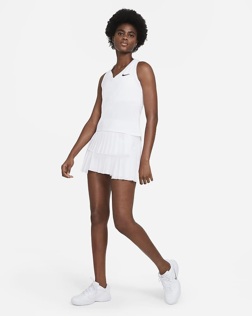 NikeCourt Victory Women\'s Tennis Tank White/Black