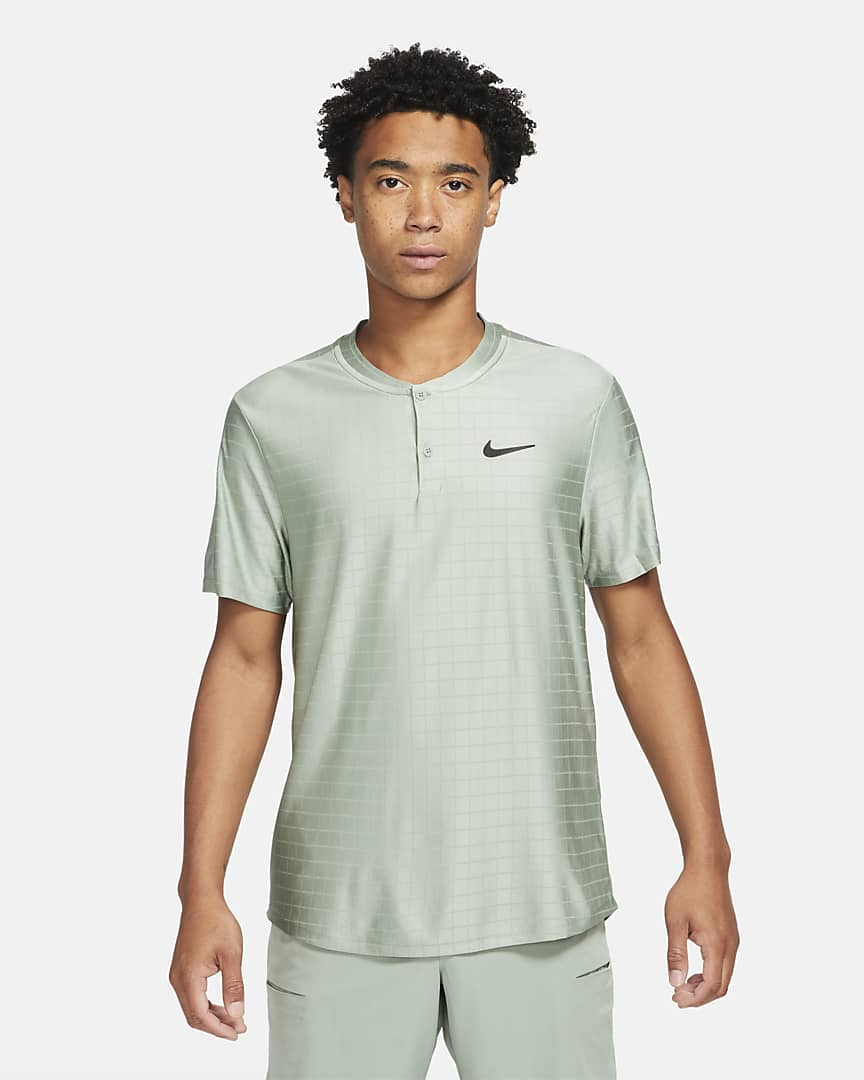 NikeCourt Dri-FIT Advantage Men\'s Tennis Polo Jade Smoke/Jade Smoke/Black