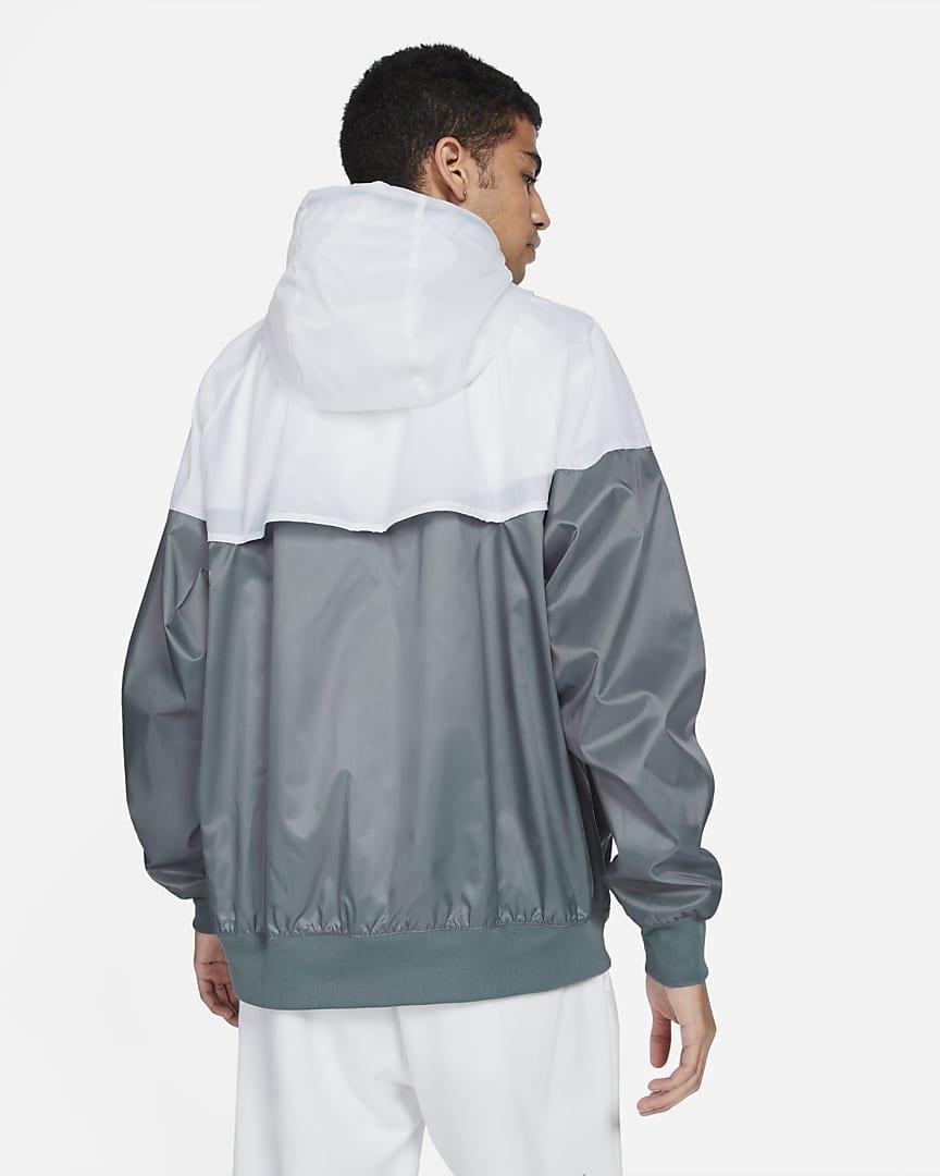 Nike Sportswear Windrunner Men\'s Hooded Jacket Smoke Grey/White/Smoke Grey/Black