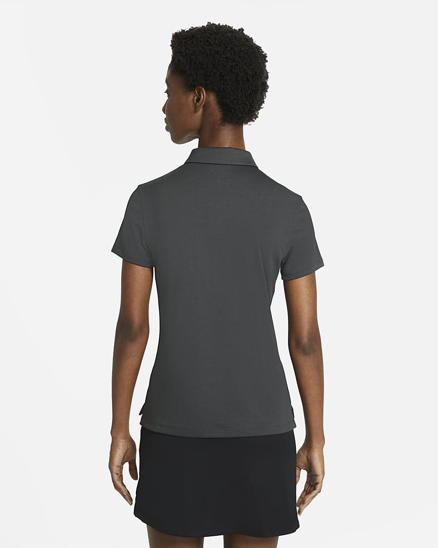 Nike Dri-FIT Victory Women\'s Golf Polo Dark Smoke Grey/Black/Dust