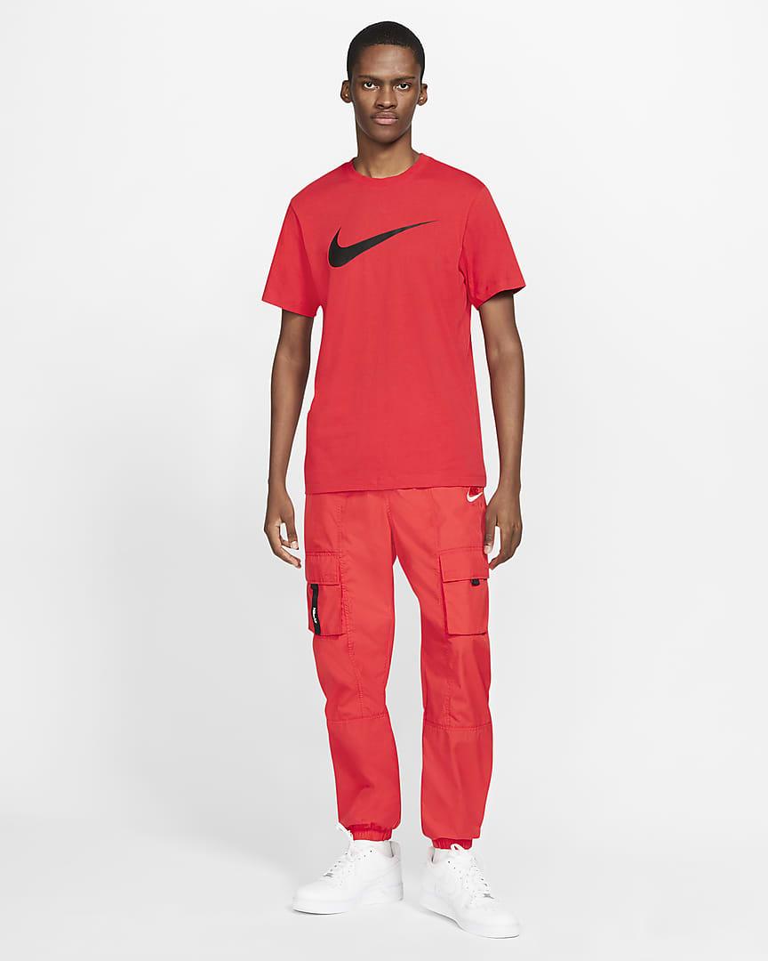 Nike Sportswear Swoosh Men\'s T-Shirt University Red/Black