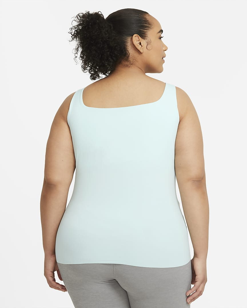 Nike Yoga Luxe Women\'s Shelf-Bra Tank (Plus Size) Teal Tint/Barely Green