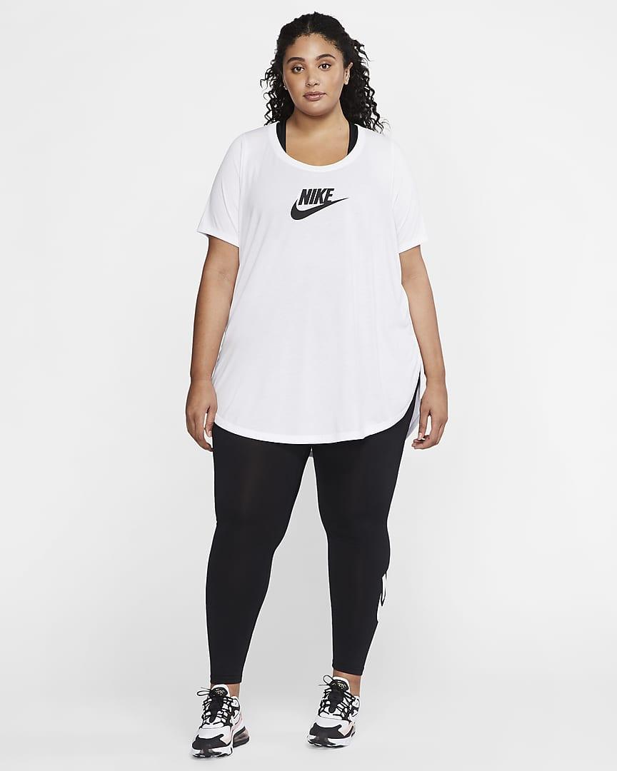 Nike Sportswear Essential Women\'s Tunic (Plus Size) White/Black