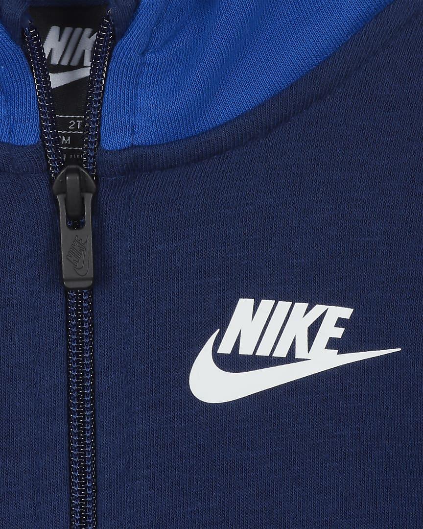 Nike Toddler Full-Zip Hoodie Blue Void