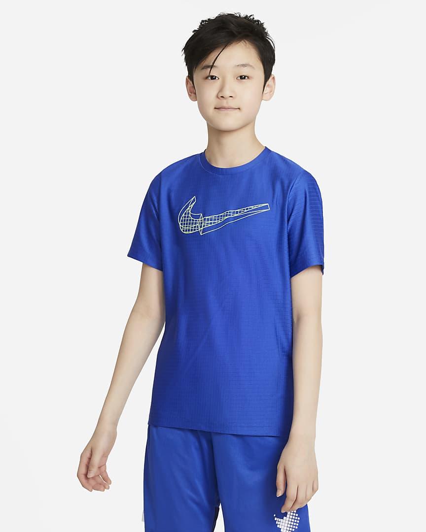 Nike Big Kids\' (Boys\') Graphic Short-Sleeve Training Top Game Royal
