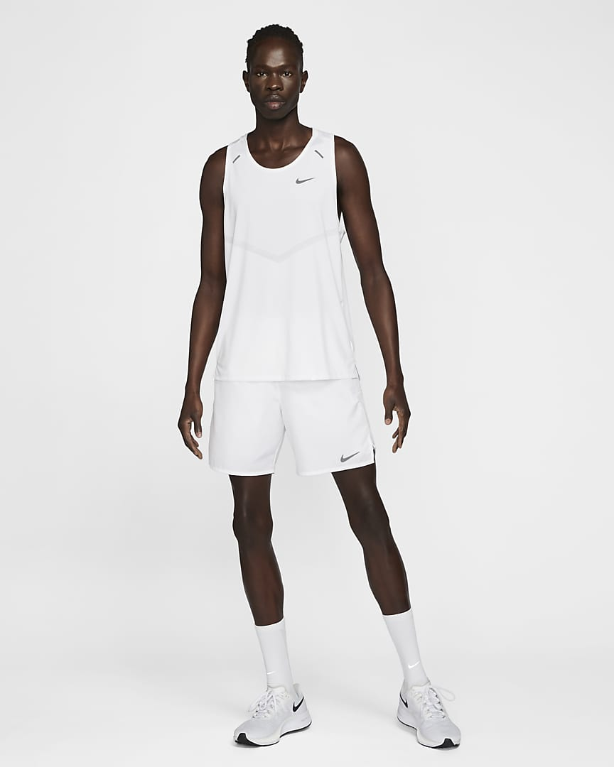 Nike Dri-FIT Rise 365 Men\'s Running Tank White