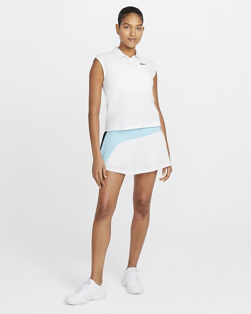 NikeCourt Victory Women\'s Tennis Polo White/Black