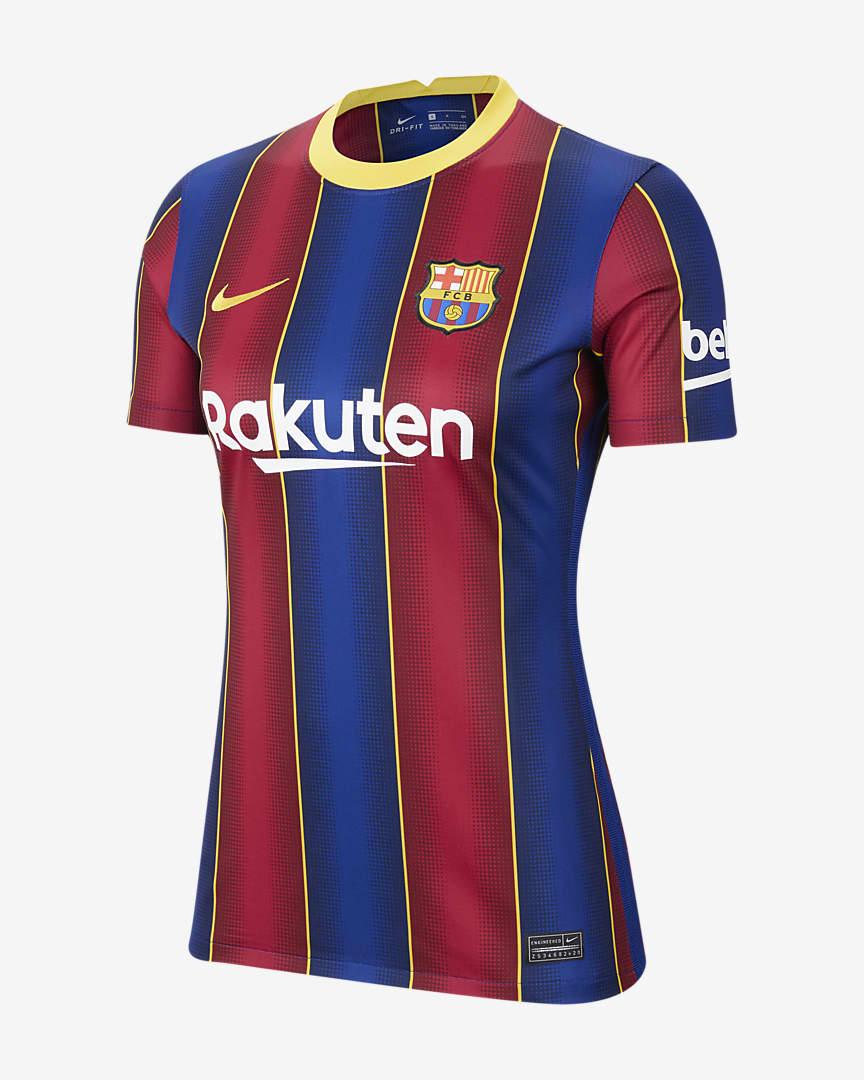 FC Barcelona Women 2020/21 Stadium Home Women\'s Soccer Jersey Deep Royal Blue/Varsity Maize