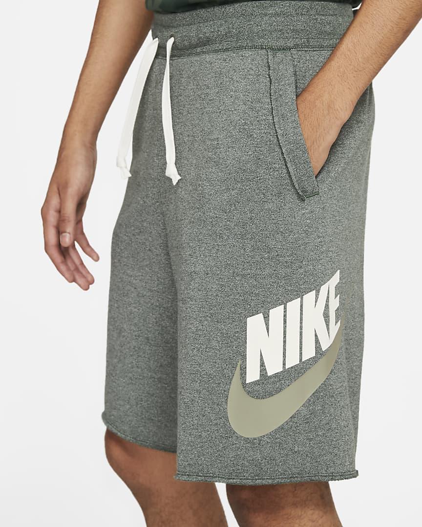 Nike Sportswear Alumni Men\'s French Terry Shorts Galactic Jade/Heather/Sail