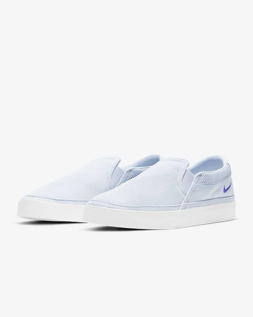 Nike Court Legacy Women\'s Slip-On Football Grey/Platinum Tint/White/Sapphire