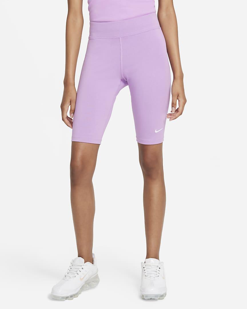 Nike Sportswear Essential Women\'s Bike Shorts Violet Shock/White