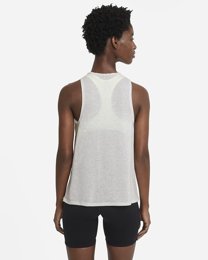 Nike City Sleek Women\'s Trail Running Tank Light Smoke Grey/Grey Fog/Heather