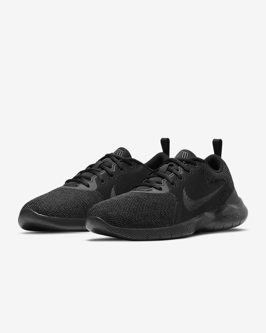 Nike Flex Experience Run 10 Men\'s Road Running Shoes Black/Dark Smoke Grey