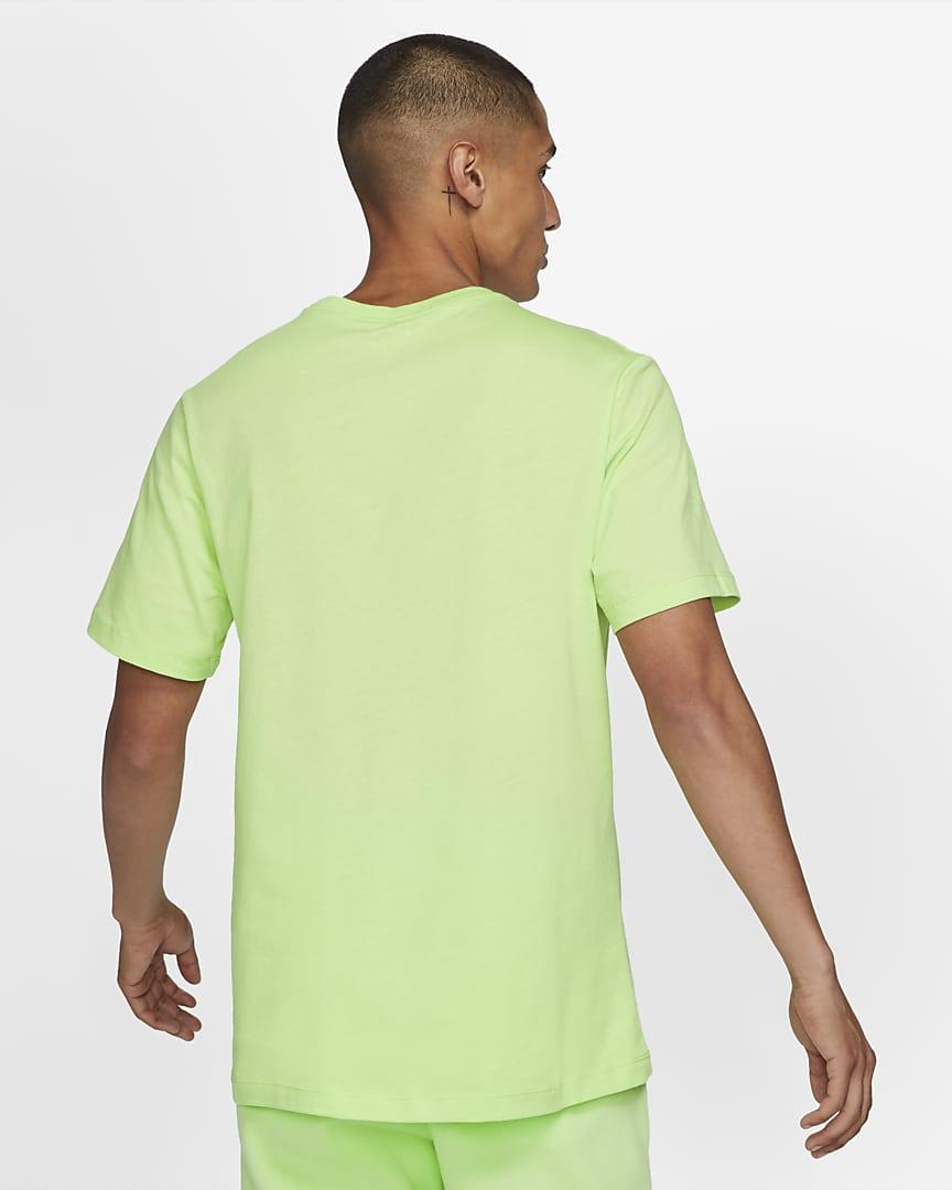 Nike Sportswear Men\'s T-Shirt Light Liquid Lime/White