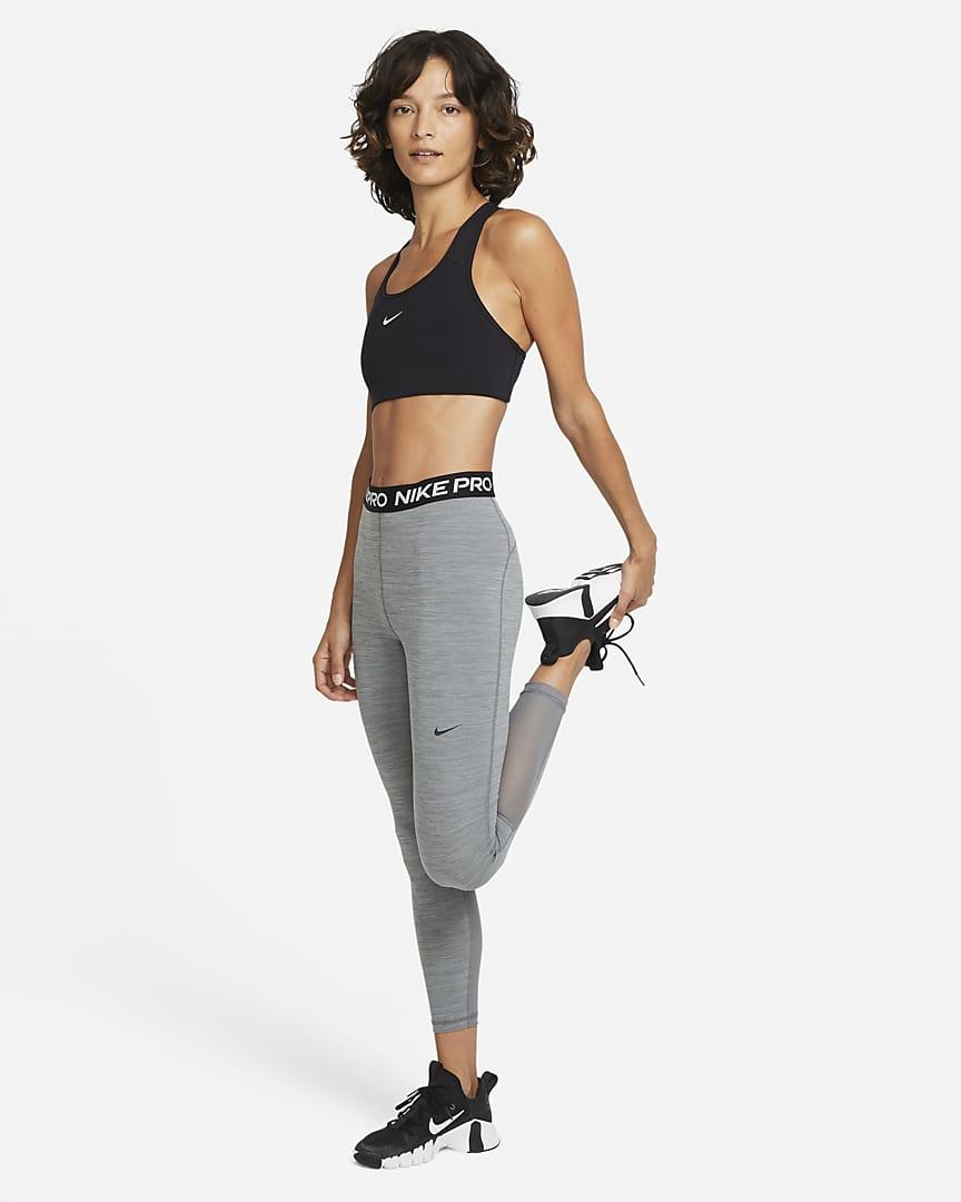 Nike Pro 365 Women\'s High-Rise 7/8 Leggings Smoke Grey/Heather/Black/Black
