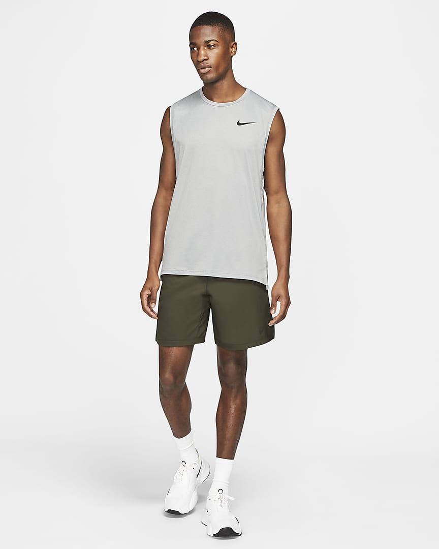 Nike Pro Dri-FIT Men\'s Tank Particle Grey/Grey Fog/Heather/Black