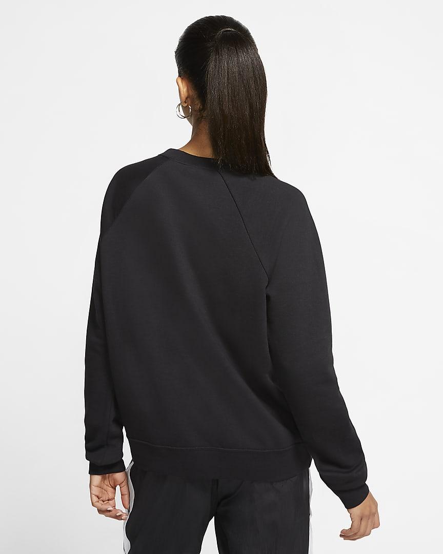 Nike Sportswear Essential Women\'s Fleece Crew Black/White