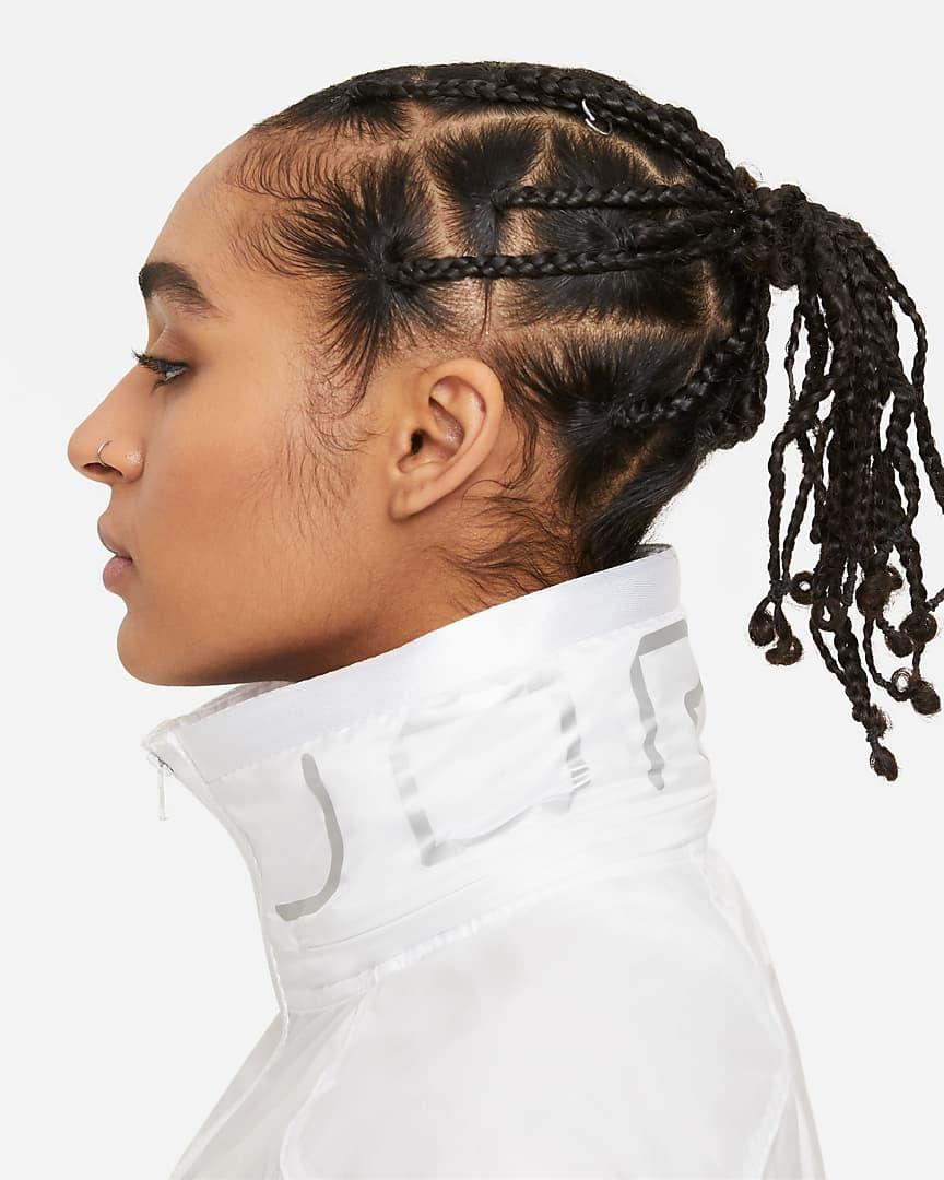 Jordan Future Primal Women\'s Lightweight Jacket White/White/White/Brushed Silver