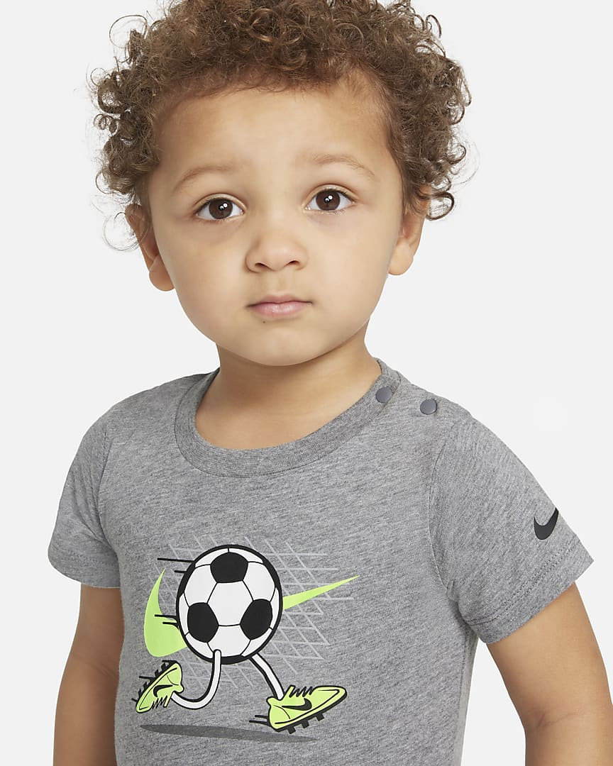 Nike Baby (12-24M) Romper Carbon Heather