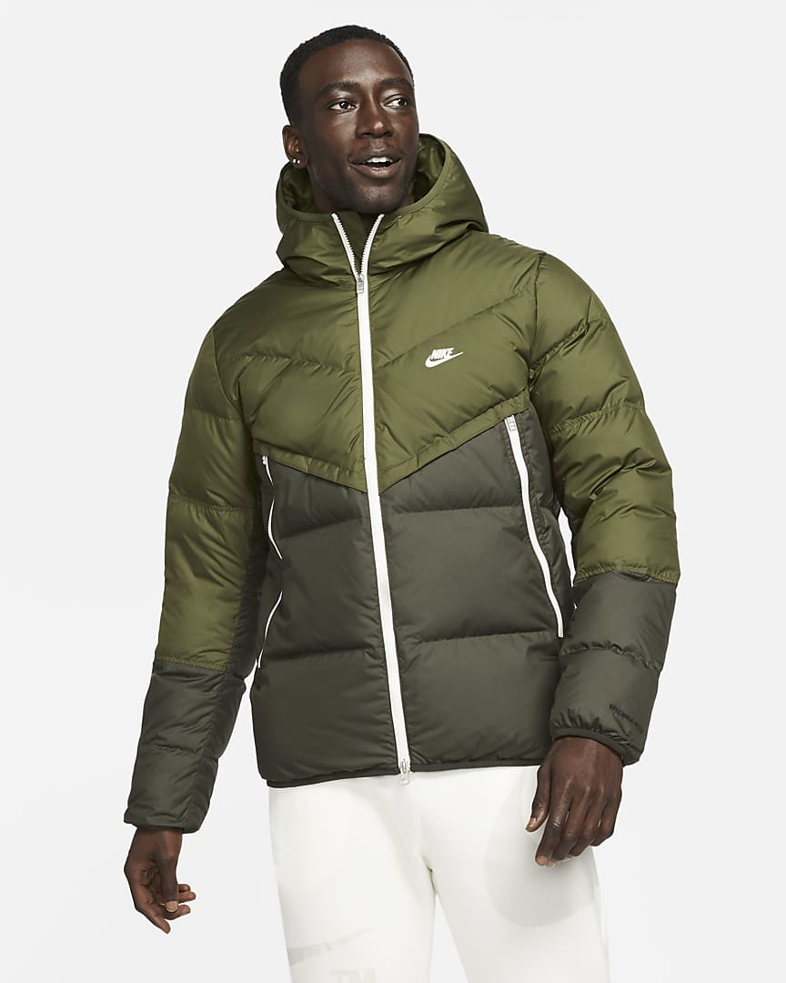 Nike Sportswear Storm-FIT Windrunner Men\'s Hooded Jacket Rough Green/Sequoia/Sail/Sail