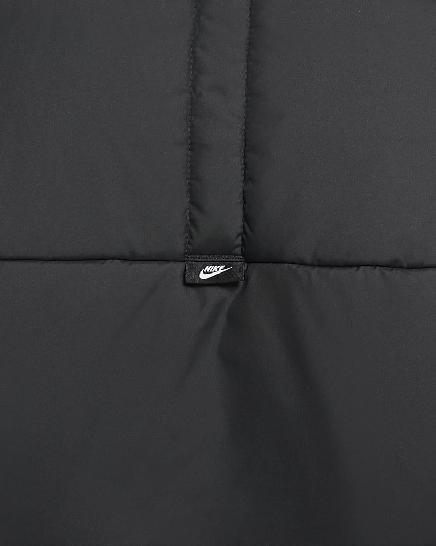 Nike Sportswear Therma-FIT Legacy Men\'s Hooded Anorak Black/Black/Sail