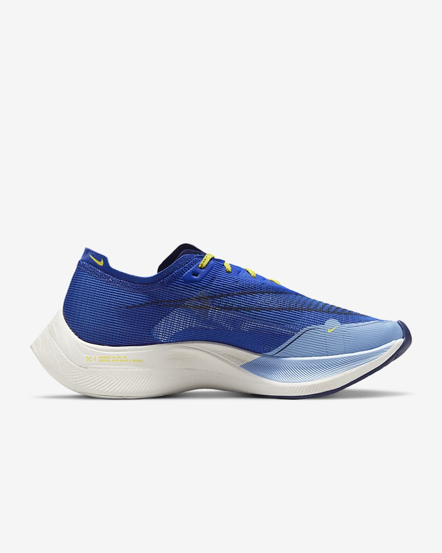 Nike ZoomX Vaporfly NEXT% 2 Men\'s Road Racing Shoes Hyper Royal/Psychic Blue/Blue Void/Yellow Strike