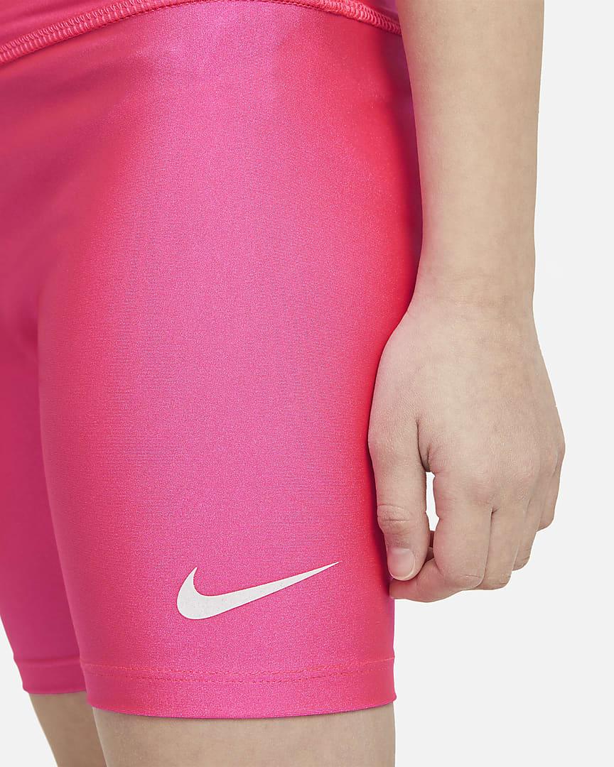 Nike Little Kids\' High-Waisted Shorts Hyper Pink